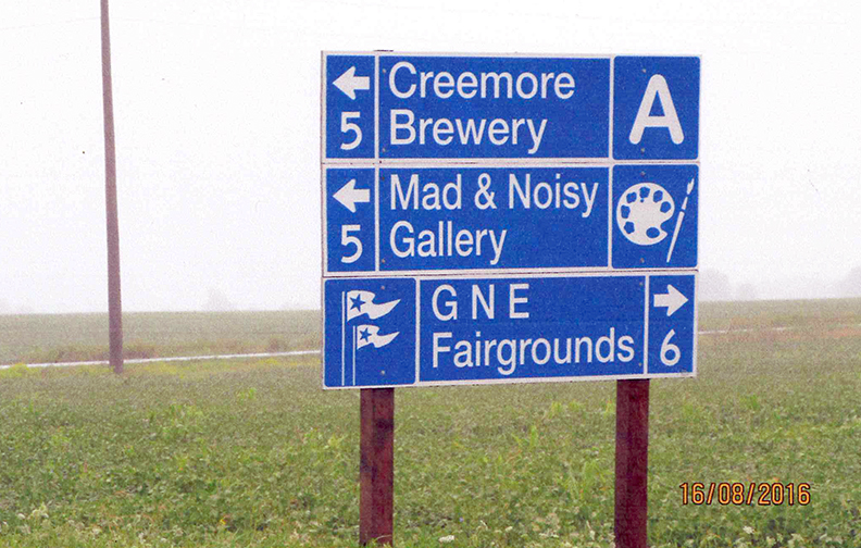 Wayfinding signs come up short