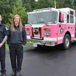 Clearview firefighters put a wrap on breast cancer