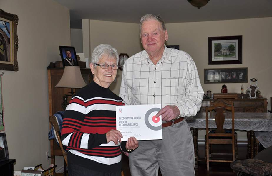 McArthur recognized for 60 years with Creemore Curling Club