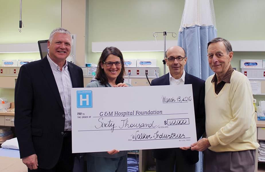 Walker Aggregates donates to ER renovation campaign