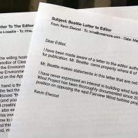 Letters tell opposing stories