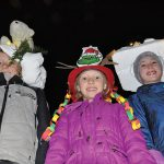 Hat contest winner flips switch at tree lighting